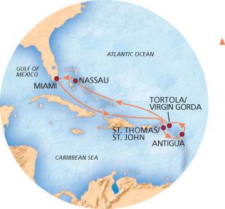 Cruise on the Carnival Breeze to St. Thomas, Antigua, San Juan ... on